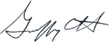 Signature of Geoffrey C. Hare