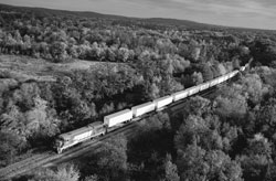 Image 16 - Aerial view of a freight train. Stock photo held by the Agency © Digital Vision